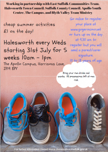 Summer Activities 10 - 18 year olds @ The Apollo Centre, Halesworth Campus