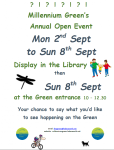 Millennium Green Library Display @ The Library
