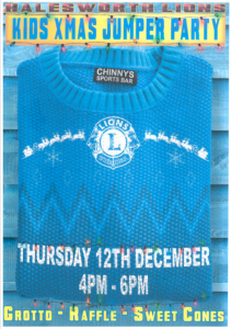 Lions Kids Christmas Jumper Party @ Chinnys Sports Bar