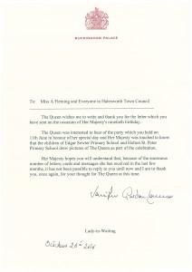 Queen's letter